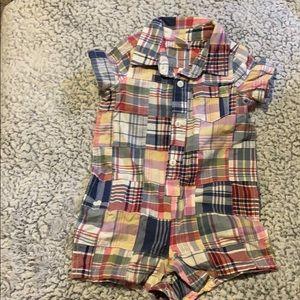 Baby Gap Plaid onesie outfit